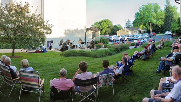 July 2019 Courtyard Jazz at Pacific Hills Lutheran Church