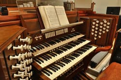 The organ at Pacific Hills Lutheran Church in Omaha, Nebraska