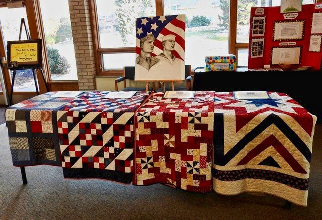 Quilts of Honor display at Pacific Hills Lutheran Church 2018