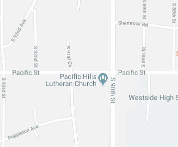 Pacific Hills Lutheran Church, Omaha map